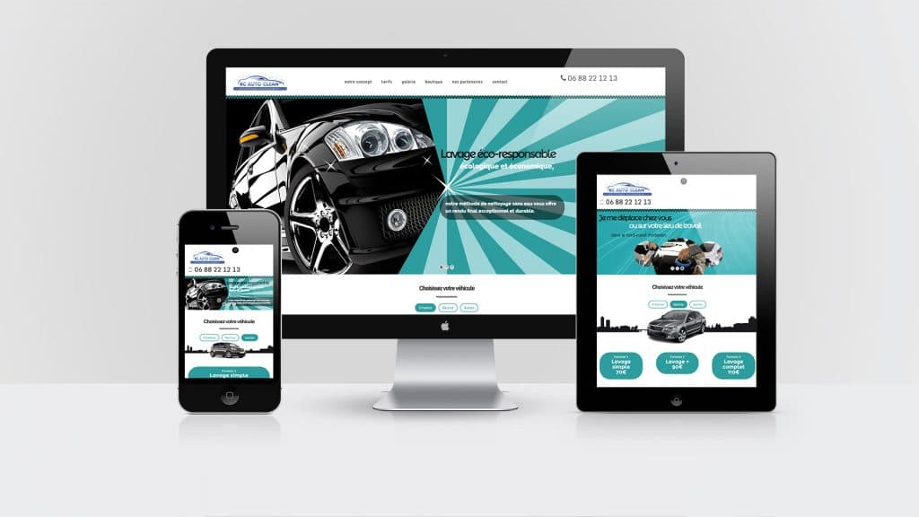 creation site web rc auto clean