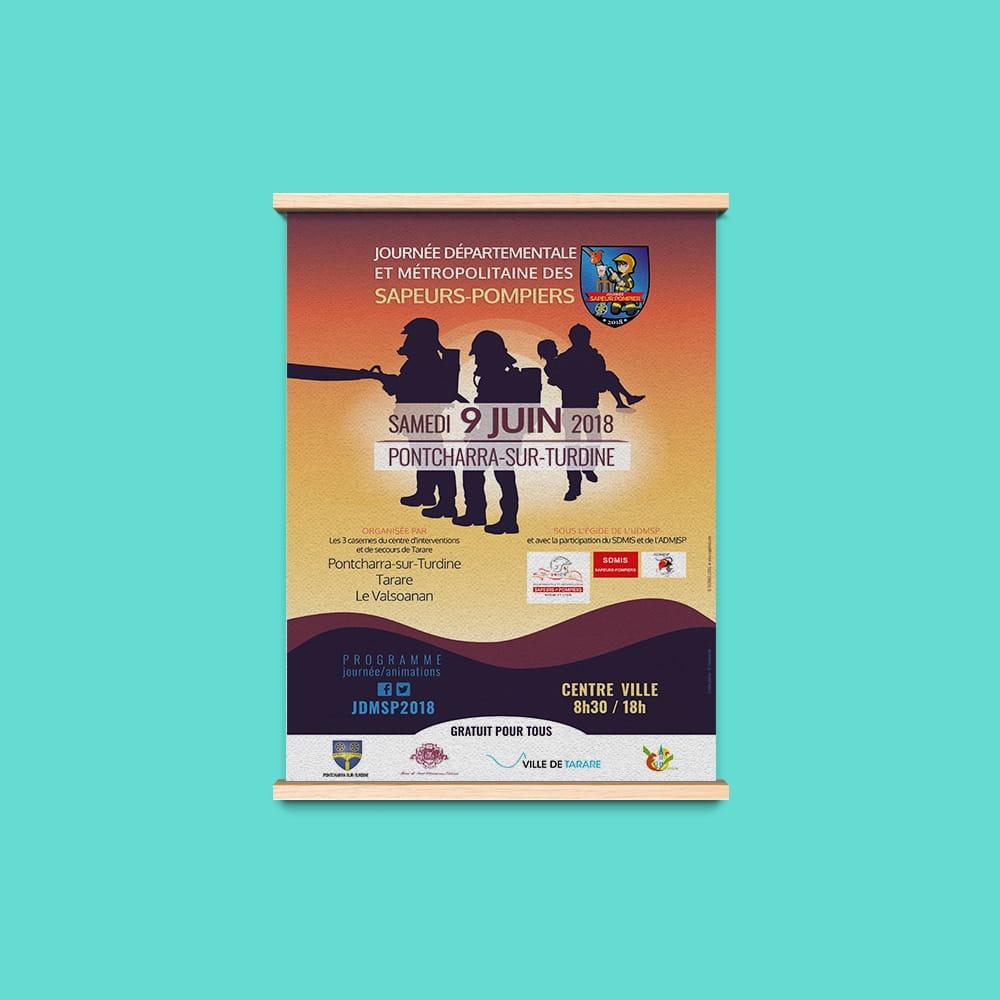 creation graphique affiche journee departementale sapeurs pompiers 3