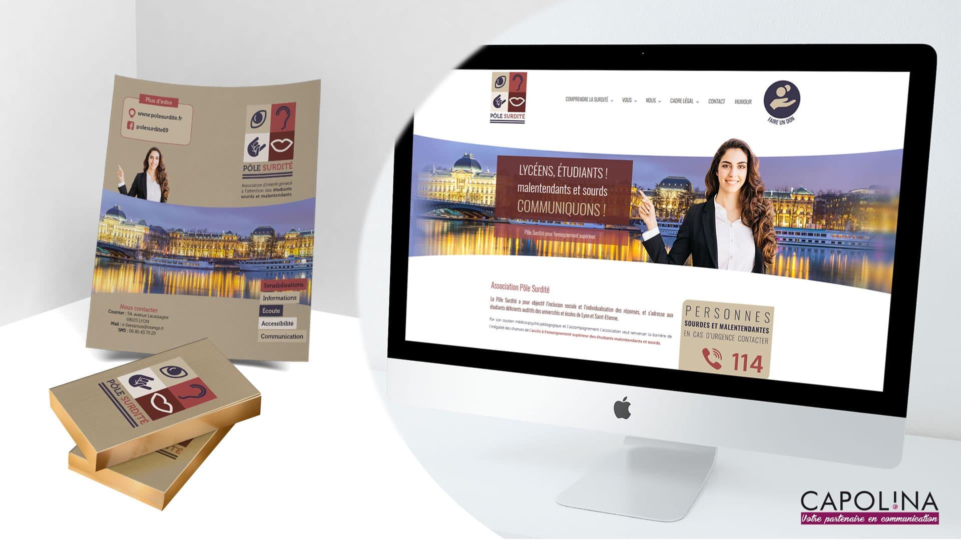 creation identite visuelle site web association pole surdite