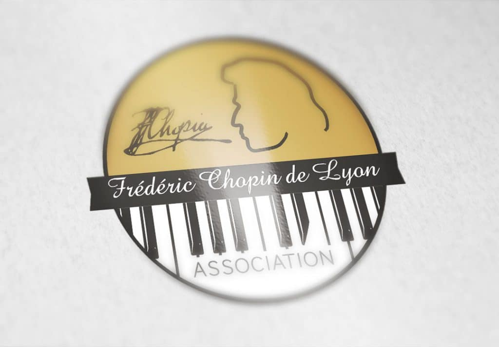 creation logo association Chopin Lyon